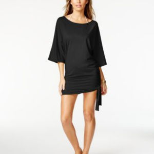 NWT! MICHAEL KORS BLACK SWIMSUIT COVER UP!